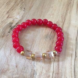 Jewelry - Red Stretchy Bracelet